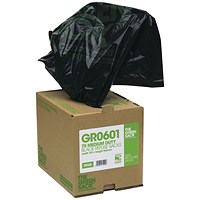 The Green Sack Compactor Sack in Dispenser Black (Pack of 40) VHP GR0602
