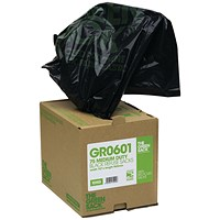 The Green Sack Heavy Duty Refuse Bag in Dispenser Black (Pack of 75)