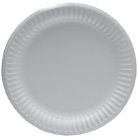 Paper Plate 9 Inch White (Pack of 100)