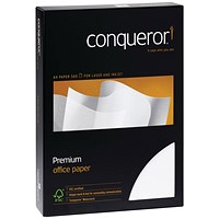 Conqueror A4 Smooth Wove Paper, Cream, 100gsm, Ream (500 Sheets)