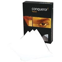 Conqueror A4 Prestige Laid Finish Paper, Brilliant White, 100gsm, Ream (500 Sheets)