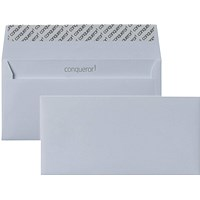 Conqueror DL Envelopes, Ultra Smooth, Diamond White, 120gsm, Pack of 500
