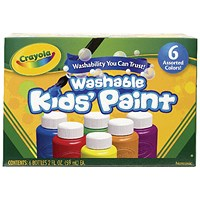 Crayola Washable Kids Paint Colours (Pack of 36)