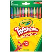 12 Crayola Twistable Coloured Pencils (Pack of 6)