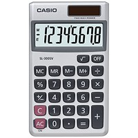 Casio Pocket Calculator 8-Digit SL-300SV