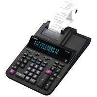 Casio Desktop Printing Calculator, 12 Digit, 2 Colour Printing, Black