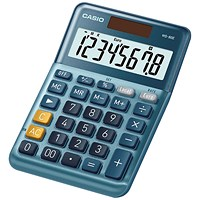 Casio MS-80E 8 Digit Desktop Calculator MS-80E-WK-UP