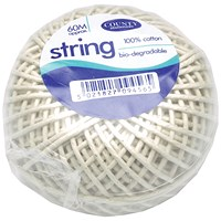 County Cotton String Ball Medium 60m (Pack of 12) C176