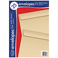 County Stationery C4 Manilla Gummed Envelopes (Pack of 500)