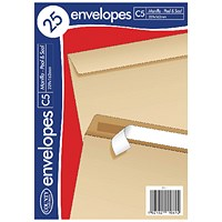 County Stationery C5 25 Manilla Peal and Seal Envelopes (Pack of 20)