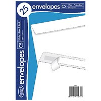 County Stationery C5 25 White Peel & Seal Envelopes (Pack of 20)