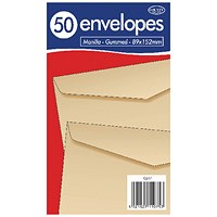County Stationery Manilla Gummed Envelopes 89x152mm (Pack of 1000)