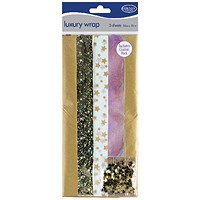 County Stationery Gold Luxury Wrap (Pack of 60)