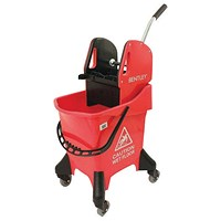 Hygineer Ergonomic Heavy Duty Mop Bucket Red 31 Litre HRMB31/R