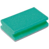 Finger Grip Scourers 130x70x40mm Green (Pack of 10) SPCAGN60I
