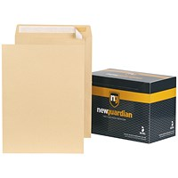 New Guardian Heavyweight Pocket Envelopes, 406x305mm, Manilla, Peel & Seal, 130gsm, Pack of 125