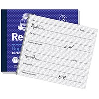 Challenge Carbon Receipt Duplicate Book, 2 to View, 100 Sets, 105x130mm, Pack of 5