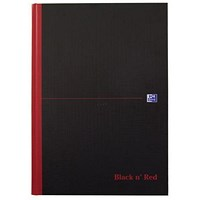 Black n' Red Casebound Notebook, A4, Ruled, 192 Pages, Pack of 5