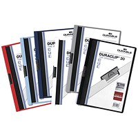Durable 3mm Duraclip File A4 Assorted (Pack of 25)