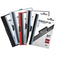 Durable 6mm Duraclip File A4 Assorted (Pack of 25)