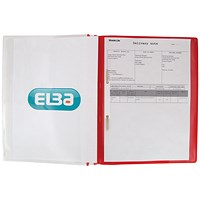 Elba A4+ Report Files, Red, Pack of 25