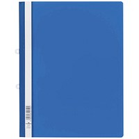 Durable A4 Clear View Folders, Blue, Pack of 25