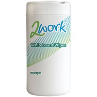 2Work Whiteboard Cleaning Wipes - Tub of 100