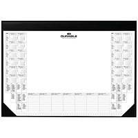 Durable Desk Mat with Calendar Pad, 59 x 42cm, Black, Pack of 1