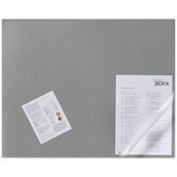 Durable Desk Mat with Transparent Overlay 650 x 520mm Grey