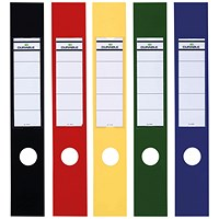 Durable Ordofix Self-Adhesive File Spine Label, 60mm, Assorted, (Pack of 10) 8090/00