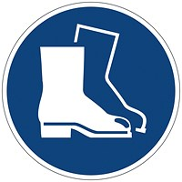 Durable Use Foot Protection Floor Sign