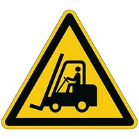 Durable Caution Forklifts Floor Sign