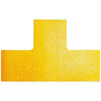 Durable Floor Marking Shape T, Yellow, Pack of 10