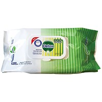 Detox Anti Bacterial Wipes Pine (Pack of 120) Detox 120 Pine