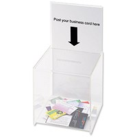 Deflecto Suggestion Box with Sign Holder (For signs up to 203 x 375mm) E66001