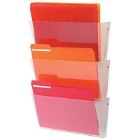 Deflecto Linked Wall File Pocket A4 (Pack of 3)
