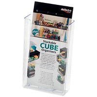 Deflecto DL Clear Flat Back Literature Holder