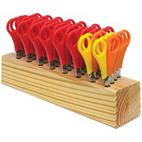 Westcott Childrens Wooden Scissor Block - 32 Pairs of Scissors