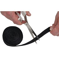 D-Line Cable Tidy Band reusable hook & Loop 1.2m Black