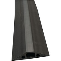 D-Line Black Floor Cable Cover, 14x9mm Section, 1.8m