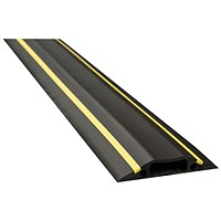 D-Line Black/Yellow Hazard Cable Cover, 30x10mm Section, 1.8m