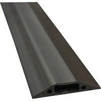 D-Line Black Floor Cable Cover, 30x10 Section, 9m