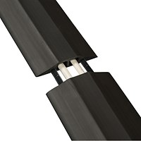 D-Line Black Floor Cable Cover, 13x12mm Section, 9m