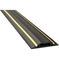 D-Line Black/Yellow Floor Cable Cover, 30x10mm Section, 9m