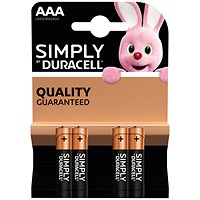 Duracell Simply Battery AAA (Pack of 4)