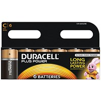 Duracell Plus C Battery (Pack of 6)