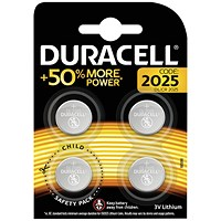 Duracell 2025 Lithium Coin Battery (Pack of 4) ECR2035
