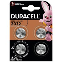 Duracell 2032 Lithium Coin Battery (Pack of 4)