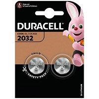 Duracell DL2032 3V Lithium Button Battery (Pack of 2)