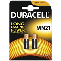 Duracell MN21 Alkaline Battery for Camera Calculator or Pager, 1.2V, Pack of 2